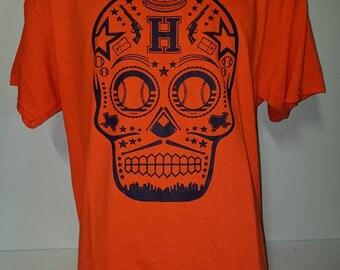 Houston Astros T shirt - Houston logo - H Town - skull