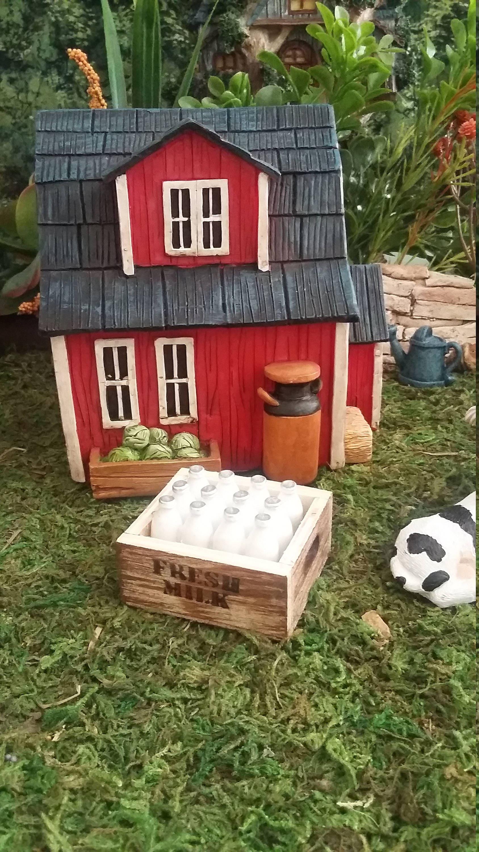 Fairy Garden Miniature Crate Of Milk Bottles, Milk Bottles