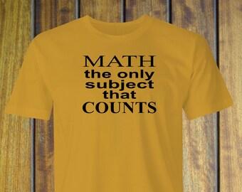 Funny Teachers T-shirt, Math Counts print, Math Teachers Funny T-Shirt, Math Subject Teacher print, Funny Math T-Shirt, Teachers T-Shirt.