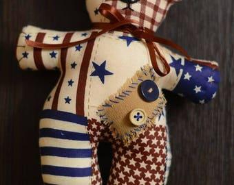 Handmade Bear Tilda Stuffed Toy Home Decor Gift for Boy