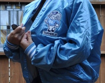 UNC Varsity Jacket Chapel Hill Large Patch Carolina Blue