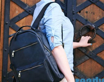 Leather backpack, leather backpack men, leather backpack woman, leather rucksack,  leather bag, leather laptop backpack, mens bag