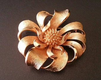 Coro gold swirled Etsy