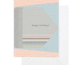 Happy Birthday Modern Greeting Card