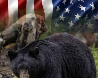 Black Bear Flag Cornhole Wrap Bag Toss Decal Baggo Skin Sticker Wraps