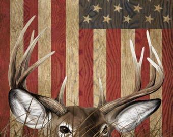 Deer Buck Flag Grass Camo LAMINATED Cornhole Wrap Bag Toss Decal Baggo Skin Sticker Wraps
