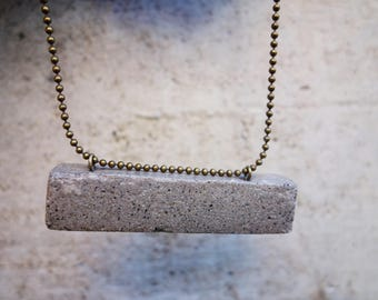 BAR pendant in CONCRETE. A perfect Unisex necklace's gift for him and her.  For an original gift to Architect. Modern Design beton pendant.