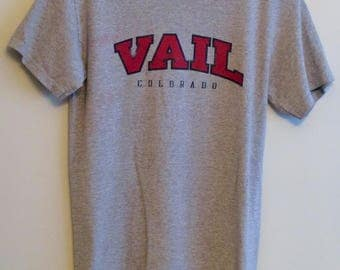 90's Vail, Colorado Heather Grey T-Shirt