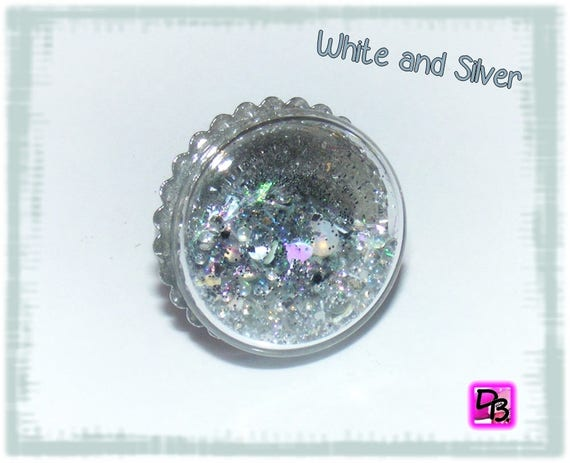 Bague globe [White and Silver]