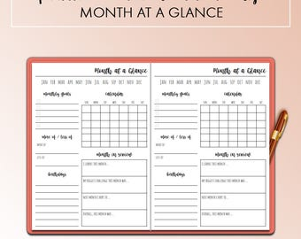 Traveler's Notebook B6 This Month Month On One Page MO1P Insert Printable