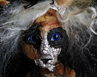 Art Doll OOAK - the sweet smells of Earth return and linger in her hair