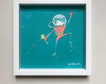 Ray Gun Girl Art Print
