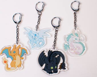Toothless Charm - How to Train Your Dragon Charm - Acrylic Charm - Double Sided Charm - Dragon Charm - Toothless Keychain
