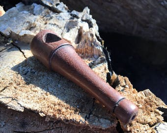 Stanley ~ A Black Walnut, Old School Wood Pipe, small wood pipe, cool pipe, unique pipe, wooden pipe, stash pipe, pipe
