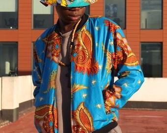 African Clothing - Wax Bomber - African Jacket - Wax Print Jacket - Festival clothing - Festival Jacket -  Winter Jacket