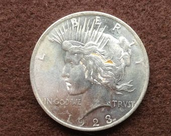 1923 P Silver Peace Dollar 90 Percent Silver Coin Old US Coin
