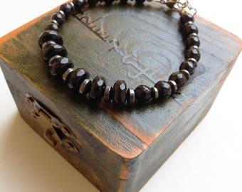 Multi-faceted Onyx bracelet