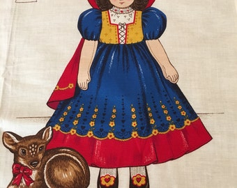 1989's Cut Sew and Stuff Panel of Snow White