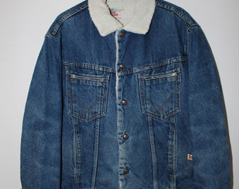 Roy Roger's Sherpa Jeans Jacket Trucker Vintage 80's