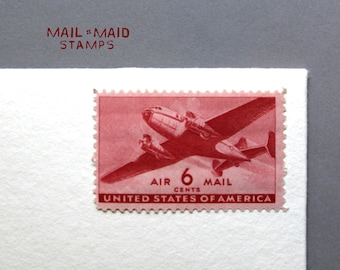 Twin-Motor Transport Air Mail || Set of 10 unused vintage postage stamps