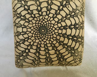 Black and White Doily Plate