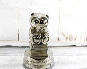 vintage Forever Friends musical money box silver plated