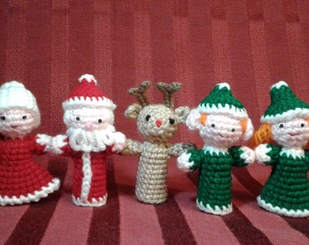 Christmas Puppets, Finger Puppets, Holiday