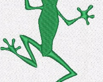 Frog Green  machine embroidery designs