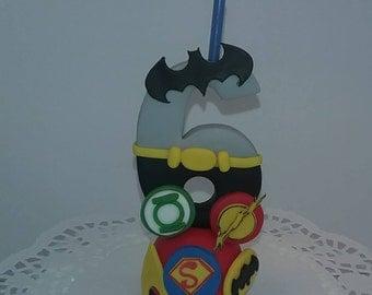 Super Heroes candle Number Batman