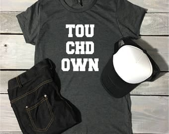 Touchdown Football Shirt, Cute Drinking Shirt, Football Tee, Game Day Shirt, Football Shirt, Sunday Funday, Football