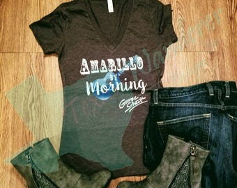 Amarillo By morning George strait shirt, the king, Country concert, Country legends, Women's Relaxed Fit Tee, Bella Canvas