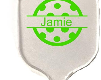 PICKLEBALL ACRYLIC KEYCHAIN - Personalized Just For You !
