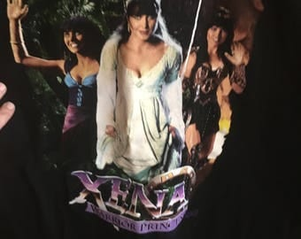 Vintage 1997 Xena Warrior Princess in Different Outfits Promotional T-Shirt Size XL