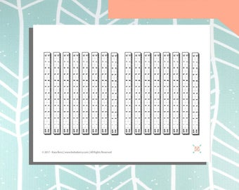PRINTABLE Wide Spaced Horizontal Time Tracker Stickers (12 & 24-Hour Formats)