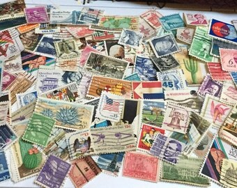 100 United States Postage Stamps - All Different
