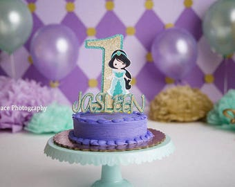 Princess Jasmine Inspired Cake Topper