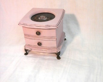 Jewelry Box Painted French Provincial