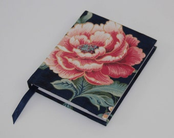 A6 Sketchbook Hand Covered with a vintage floral fabric, reclaimed from a pair of curtains