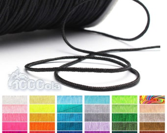 20 meter 1 mm Nylon thread/string woven Chinese design black macramé Shamballa Bracelet Necklace jewelry