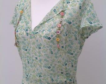 1930s floral dress Art Deco vintage antique
