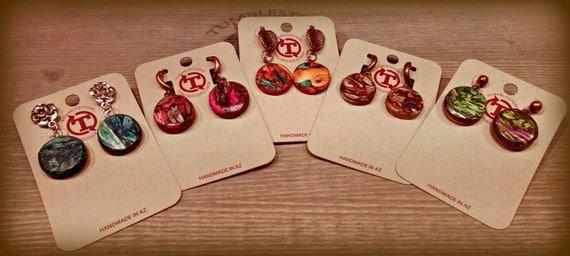Tumblestone Post Earrings