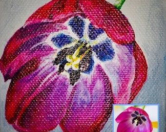 Custom Paintings from Photo, Acrylic Painting on Canvas, Flower/Nature/Landscape Painting