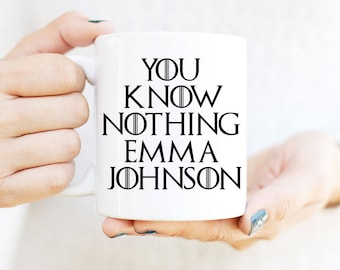 You Know Nothing, Jon Snow Mug, Game of Thrones Mug, Jon Snow, Jon Snow Gift, You Know Nothing Jon Snow, Jon Snow Mug, Game of Thrones Gift