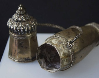 Antique Silver Betel Nut Container from Burma WM 43