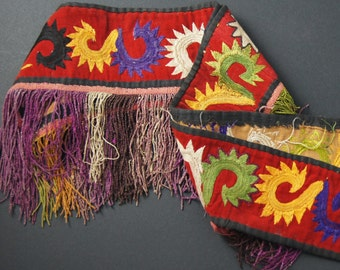 Old Ethnic Uzbek Lakai Segusha Embroidery, Central Asia