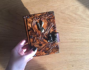 Steampunk Journal, Leather Journal, Travel Journal, Leather Notebook, Leather Sketchbook, Diary