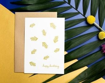 Birthday card printing 10, 5 X 14, 7 CM - Happy Birthday