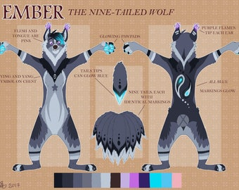 Character Design: Fursona, Fursuit Reference/Character Reference