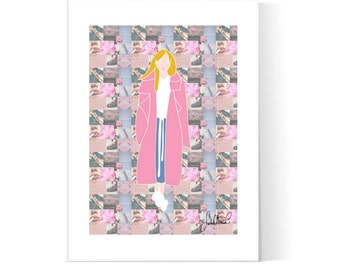 Teen Girl Collage Poster / Teen Art / Girly Bedroom / Collage Illustration /  Fashion Poster / Printable / Instant Download / 2JPEG Files