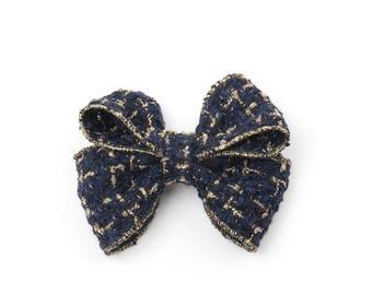 Chanel Type of Fabric Hair Bows, Hair Bows, Hair Bows for Girls, Hair Bows for Women, Large Hair Bows